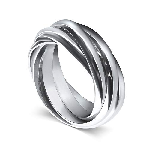 MyMantra Fünffach-Ring aus 925er Sterlingsilber (55)