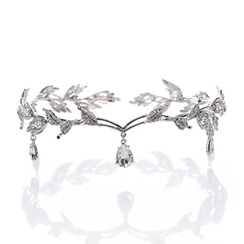 Pixnor Strass Crystal Bridal Tiara Hair Pin Hochzeitsparty