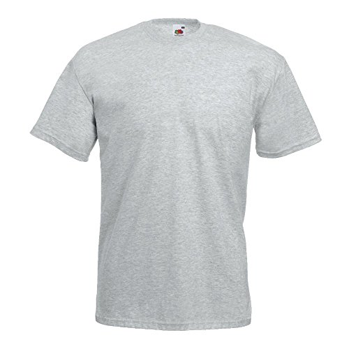 Fruit of the Loom - Classic T-Shirt 'Value Weight' L,Heather Grey