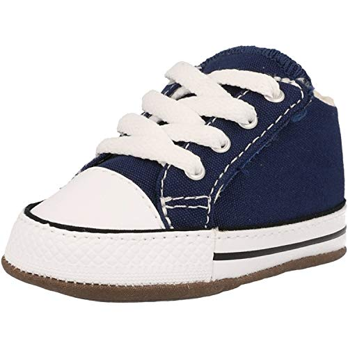 Converse Baby Chucks Blau Chuck Taylor All Star Cribster Canvas Color - Mid Navy Natural Ivory White, Groesse:19