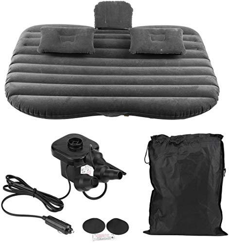Reisebett Auto aufblasbares Bett aufblasbares Bett for Auto, aufblasbare Matratze mit elektrischer Pumpe aufblasbaren Kissen for SUV-Auto-LKW Ideal for die Reise Camping 5-21 ( Color : Black )