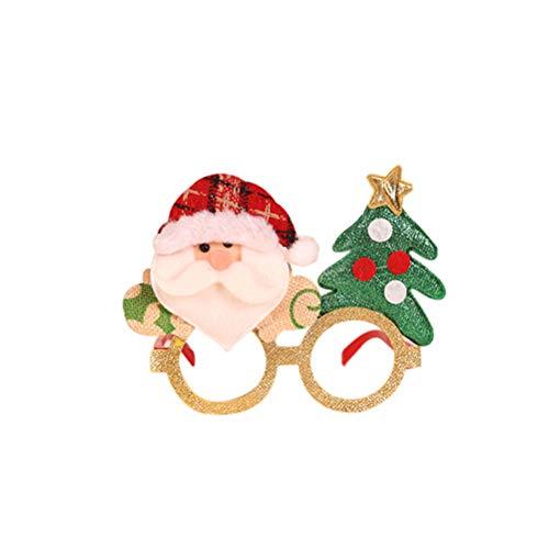 Sarplle Weihnachten Brillengestell 1 Stücke Kreative Weihnachten Brillen Rahmen Weihnachtsschmuck mit Lichtern für Neujahr, Geburtstag, Hochzeit