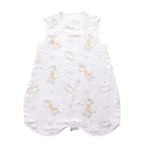 SXSHUN Baby Musselin Sommerschlafsack Schlafsack Baumwolle Ärmellos Babyschlafsack für Neugeborene, Pferd Hirsch Engel#2, 90 (Empfohlene Höhe=90-100cm)