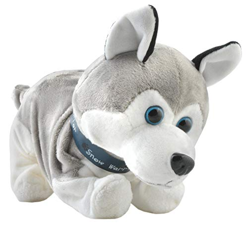 ISO TRADE Interaktiv Roboter Hund Husky Elektronisch Plüsch Bellt Schnüffelt Knurrt Spielzeug 4477