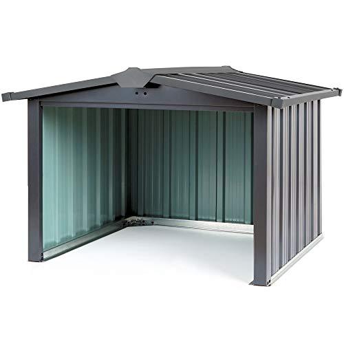 Zelsius Mähroboter Garage Metall | 86,5 x 88 x 60 cm | Garage für Mähroboter, Überdachung für Rasenroboter, Rasenmähroboter Garage