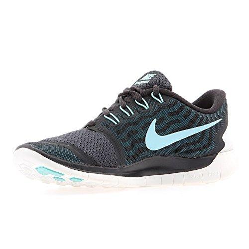 Nike Free 5.0 Damen Laufschuhe,Mehrfabig (Anthracite/Copa-Black-Black Lagoon),36 EU