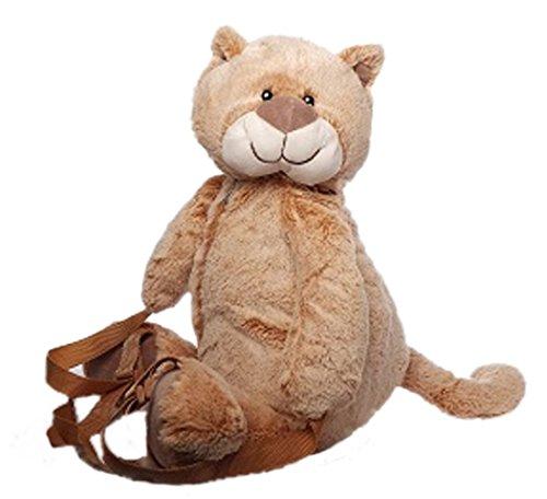 Inware 5602 - Kinder Rucksack, Motiv Katze, beige/braun-meliert