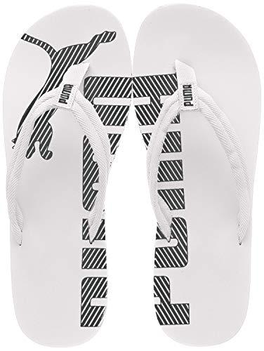 Puma Unisex-Erwachsene Epic Flip V2 Dusch- und Badeschuhe, Weiß (white-black), 46 EU