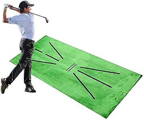 Chagoo Golf Training Mat for Swing Detection Batting, Mini Golf Practice Training Aid Game Gift