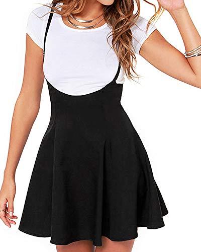 YOINS Rock Damen Mädchen Minirock Kawaii A Linie Mini Skater Rock Kleider für Damen Minikleid Skaterkleid,Rock-1 (Schwarz/Weiss),L