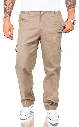 Rock Creek Herren Cargo Hose Chinohose Seitentaschen Outdoor Stoffhose Cargohose Chinos Outdoor Hosen für Männer Kargohosen H-234 Beige 3XL