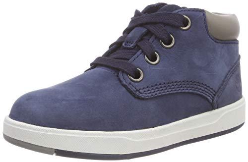 Timberland Unisex-Kinder Davis Square Leather Chukka Boots, Blau (Navy Nubuck), 27 EU