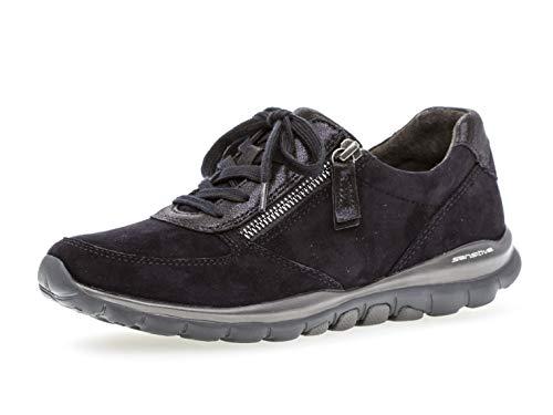Gabor Damen Low-Top Sneaker 36.968, Frauen Sport-Halbschuh,Halbschuh,Schnürschuh,Strassenschuh,Business,Freizeit,Pazifik,39 EU / 6 UK