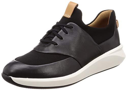 Clarks Un Rio Lace, Damen Niedrig, Schwarz (Black Leather), 40 EU (6.5 UK)