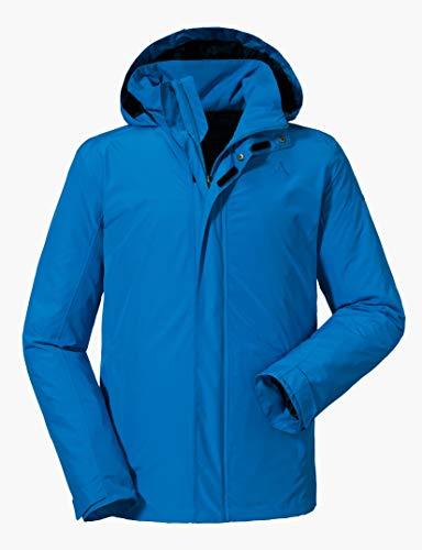 Schöffel Jacket Aalborg2, wasser- und winddichte Outdoorjacke mit verstaubarer Kapuze, atmungsaktive Regenjacke für Männer Herren, directoire blue, 52
