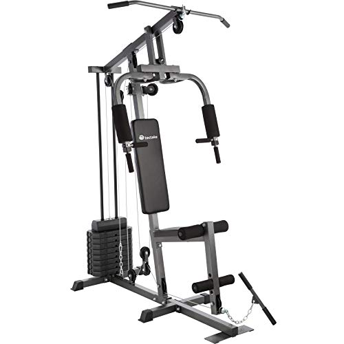 TecTake Kraftstation Fitnessstation Heimtrainer | Butterflymodul | Latzugstange | Beinstreckervorrichtung - Verschiedene Modelle (Typ 1 | No. 402756)
