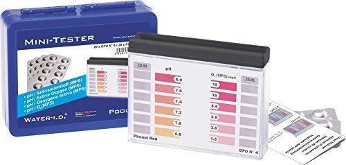 well2wellness Pooltester/Mini-Tester für Sauerstoff (O²) + pH mit je 20 Messtabs