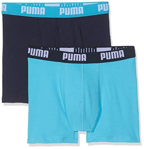 Puma Jungen Basic Boxer 2p Unterhose, (Bright Blue 789), 9-10 Jahre (Herstellergröße: 140) (2er Pack)