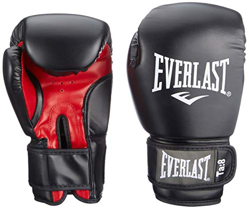 Everlast Erwachsene Boxen Punchinghandschuhe 1803, Schwarz (Black/Red),12 oz