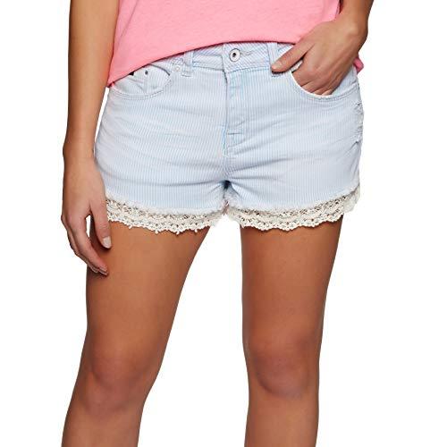 Superdry Shorts Damen Denim LACE HOT Short Stripe Lace, Hosengröße:29