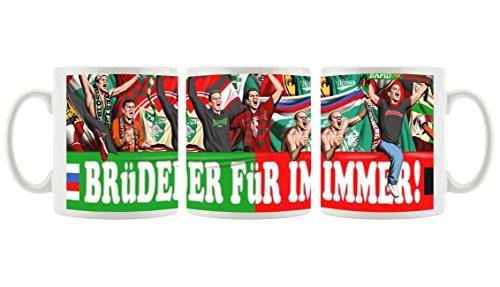Ultras Rapid& NürnbergFreundschaft als Bedruckte Kaffeetasse/Teetasse aus Keramik, 300ml, weiß