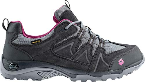 Jack Wolfskin Damen Traction Low Texapore Trekking- & Wanderhalbschuhe, Grau (Pebble Grey 004), 41 1/3 EU
