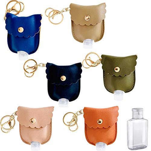 BCASE, Packung mit 6 Desinfektionsflaschen mit elegantem Schlüsselbundetui, feste und glatte Farben, Ideal für Valentinstag und Andere Besondere Termine