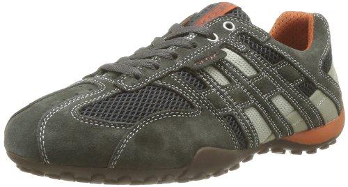 Geox Herren UOMO SNAKE K Sneaker, Grau (DK Grey/Off WHITEC1300), 44 EU