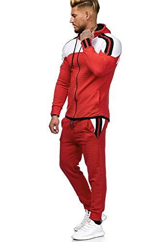 Code47 Herren Jogginganzug Sportanzug Modell 1148 Rot XL