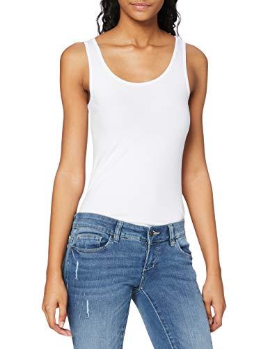 ONLY Damen Onllive Love Tank Noos Top, Weiß (White White), 42 (Herstellergröße: XL)