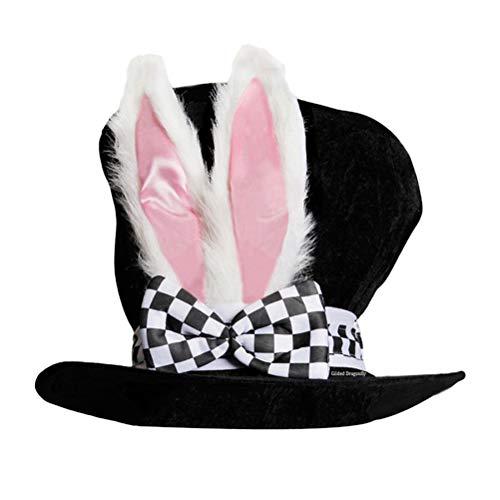 BESTOYARD Osterhase Hut Lustige Hasenohren Plüsch samt hohe Hut Zylinder Karneval Hut Kostüm Leistung Zubehör