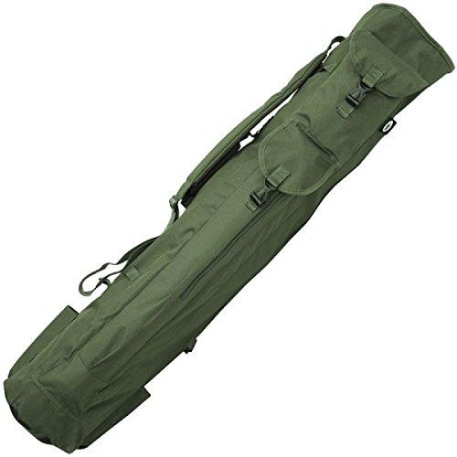 NGT Unisex FLA Rutentasche für Angler mit Platz für Köcher, Angelroute und Utensilien zum Fische fangen, Grün, 120x 33cm, (105)