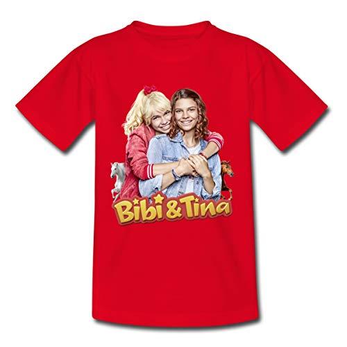 Bibi & Tina Die Serie Freundinnen Kinder T-Shirt, 122-128, Rot