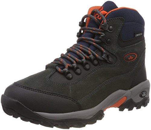 Lico Herren Milan Trekking-& Wanderstiefel, Schwarz (Anthrazit/Orange), 44 EU