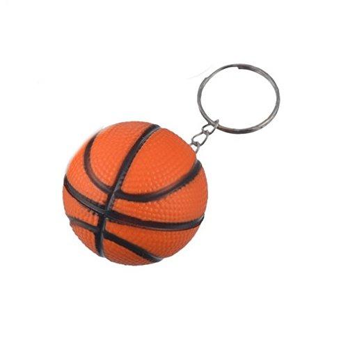 Familienkalender Basketball Knautsch Ball Schlüsselanhänger Knautschball | Geschenk für Männer | Kinder | NBA | Korbball | Stressball | Ball | Mini Basketball | Orange