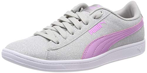 Puma Mädchen Vikky Glitz Jr Sneaker, Silber Silver-Orchid 01, 38 EU