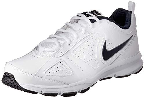 Nike Herren T-Lite Xi Low-Top, Weiß (White/Obsidian-Black-Metallic Silver 101), 42.5 EU