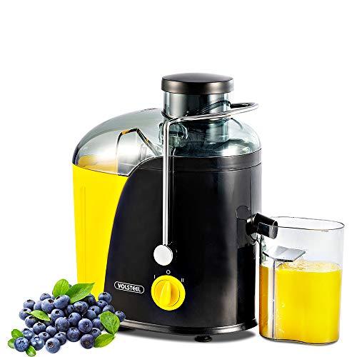 Entsafter Volsteel Zentrifugaler Entsafter mit ProBlend Technologie, Klinge aus rostfreiem Stahl, BPA Frei, und 2 Geschwindikeitsstufen für Gemüse, Obst, Sellerie, Zwiebeln, und Radieschen