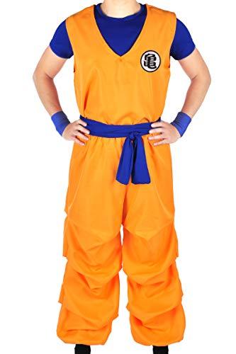 CoolChange Dragon B. 3-teiliges Trainings Kostüm von Son Goku beim Herr der Schildkröten | Größe: L