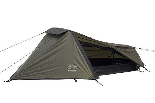 Grand Canyon Richmond 1 - leichtes Zelt, 1 Person, für Trekking, Camping, Outdoor, Festival, kleines Packmaß, Wasserdicht, olive/schwarz, 302008