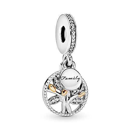 Pandora Moments Sparkling Family Tree Charm-Anhänger Sterling Silber, Cubic Zirkonia 791728CZ