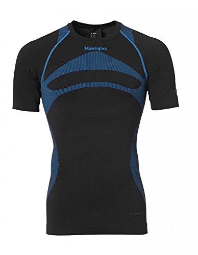 Kempa Erwachsene Bekleidung Teamsport Attitude Pro Shortsleeve Damen T-shirt, schwarz/kempablau, XS/S