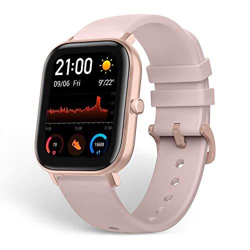 Amazfit GTS Smartwatch Fitness Tracker mit 1,65'' Always On Display, GPS, Herzfrequenzüberwachung, Schlafindex, 14 Tagen Akkulaufzeit, 5 ATM wasserdicht für Herren Damen (Rosa)