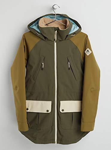 Burton Damen Prowess Snowboard Jacke, Keef/Martini Olive/Creme Brulee, XL
