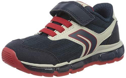 Geox Jungen J Android Boy B Sneaker, Blau (Navy/Red C0735), 30 EU