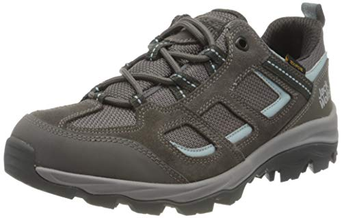 Jack Wolfskin Damen Vojo 3 Texapore Low W Outdoorschuhe, Tarmac Grey/Light Blue, 41 EU