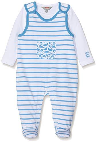 Kanz Unisex Baby Strampler + T-Shirt 1/1 Arm Bekleidungsset, Blau (Azure Blue Blue 3710), 62