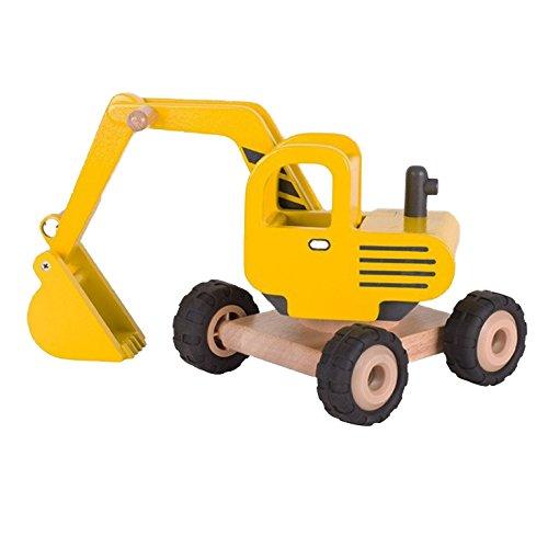 Goki 55898 Bagger Fahrzeug aus Holz