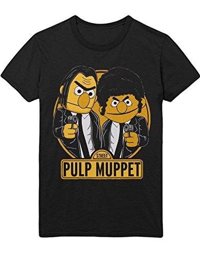 T-Shirt Vincent Vega Jules Winnfield Mashup C123458 Schwarz L