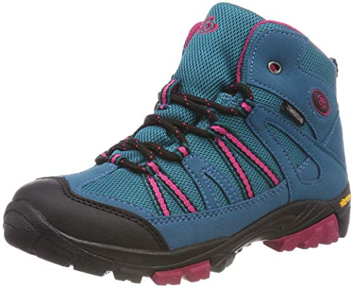 Brütting OHIO HIGH Mädchen Trekking- & Wanderstiefel, Türkis/ Pink, 36 EU